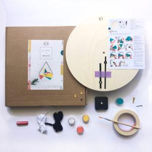 Kit horloge à fabriquer - Kit créatif déco - Horloge DIY à faire soi-même - kit diy deco - kitik