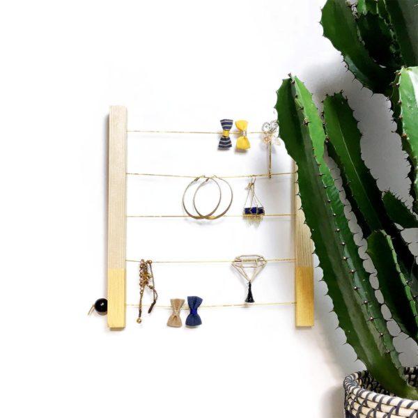Kit porte bijoux et barrettes à personnaliser - Box créative enfant - Kit porte bijoux bois - kit diy - Kitik