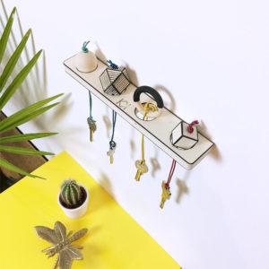 Kit porte clés original - Fabriquer vous même votre porte clés mural - kitik - Kit porte clés original