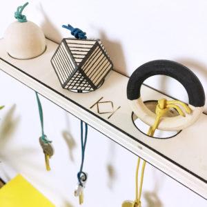 Kit porte clés original - Fabriquer vous même votre porte clés mural - kitik - Créer son porte clés soi-même