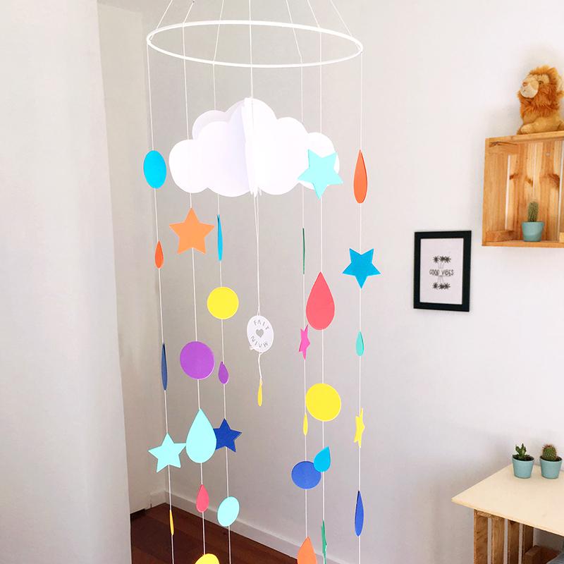 Atelier deco, atelier créatif, diy, mobile, mobile papier, mobile nuage, les ateliers créatifs