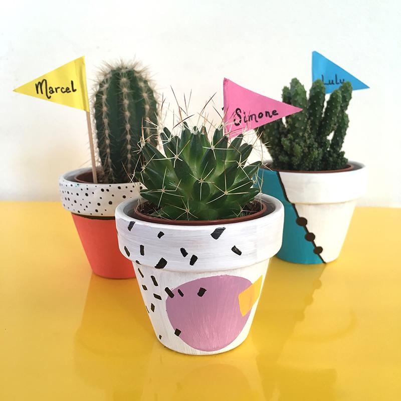 Atelier deco, atelier créatif, diy, mini jardin, cactus, cactus en pot