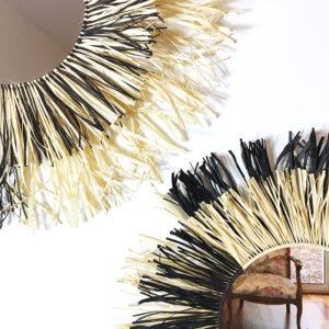 KIT MIROIR - Box créative complète pour créer un miroir en raphia - kitik -Fabrication de miroir fait maison