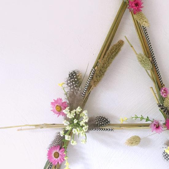 DIY lettre fleurie - DIY fleurs séchées - Tendance déco fleurs séchées - Kitik
